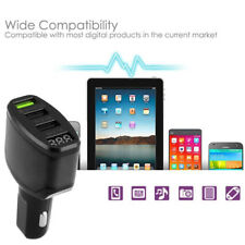 3-Port USB 4.2A KFZ-Ladegerät Adapter LED-Anzeige Fast für iPhone Samsung Black
