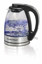 Hamilton-Beach 40930C 1.0 L Electric Glass & Stainless Kettle, Small  1000w