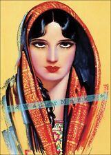 Women Of Mexico 1940 Mexican Calendar Art Vintage Poster Print Retro Style #6
