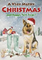 "German Shepherd Dog A6 (4"" x 6"") Christmas Card - Blank inside - by Starprint"