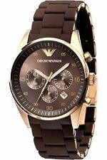 Emporio Armani Men's Watch AR5890 Brown Dial Chronograph royal look and touch