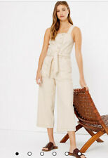 MARKS & SPENCER DENIM BUTTON DETAILED JUMPSUIT 10 BNWT