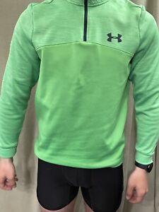 Under Armour Lime Green Lightweight Fleece Jacket Men's  Small