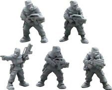 NBC suited marines 28mm metal Unpainted Wargames