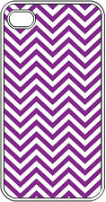 Chevron Purple Designed iPhone 4 4s Hard Clear Case Cover