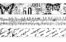 KAISERCRAFT Black & White Printed Washi Paper Tapes For Card Making Craft TM802