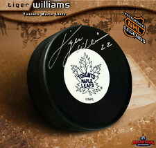TIGER WILLIAMS Toronto Maple Leafs Signed Orginal Six Logo Puck
