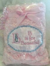 Personalised Peter Rabbit Beatrix Potter Baby Blanket