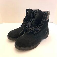 Timberland Linden Woods Waterproof Black Nubuck Boots Womens Size 8.5 A1TXX New