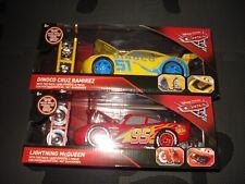 Jada Disney Cars 3 Lightning Mcqueen & Dinoco Cruz Ramirez 1:24 Tire Rack NIB