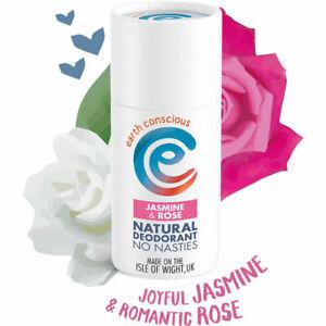 Earth Conscious Natural Deodorant Plastic Free Vegan Jasmine & Rose