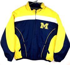 G III 3 Michigan Wolverines Blue Yellow Wind Coat - UofM Football - Tailgate