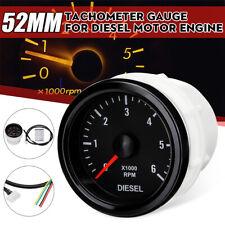 12V 52mm 0-6000RPM Tachometer Gauge For Diesel Motor Engine Car Van 4x4 Off Road