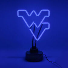 WEST VIRGINIA MOUNTAINEERS NEON SIGN LIGHT TABLE TOP LAMP OFFICE DESK MANCAVE