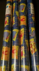 4 Rolls,  Winnie the pooh wrapping paper,6m x 69cm,, NEW