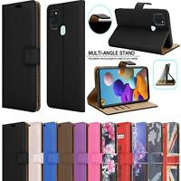 For Samsung Galaxy A21S Case Magnetic Flip Stand Leather Book Wallet Phone Cover