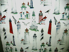 100% Cotton Fabric - American Coast Lighthouses From Alexander Henry