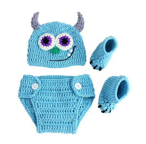 Newborn Photography Props Baby Boys Girls Handmade Knitted Outfits Crochet
