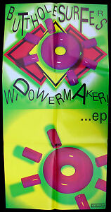 BUTTHOLE SURFERS Widowmaker 1989 Touch and Go Records PROMO POSTER Gibby MINTY!