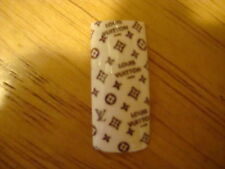 Designer Acrylic Nail Tip Brown on White 100 pcs/box, 10 sizes --- Best selling