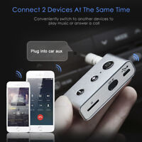 Wireless Bluetooth 4.2 Car Kit Hands free 3.5mm Jack AUX Audio Receiver Adapter