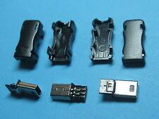 150 pcs Mini USB 5 Pin Male Plug Socket Connector with Plastic Cover