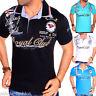 Herren Polo Shirt T-Shirt Clubwear 2in1 Shirt V-Neck Freizeit Paris M-XXL t.4.2