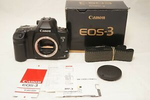 [MINT IN BOX]Canon EOS-3 35mm SLR Film Camera Body Only w/Strap From japan