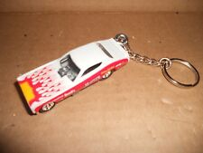 1972 Dodge Charger Nhra Chi Town Hustler Diecast Model Car Keychain White Red