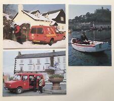 3 Postcards National Postal Museum. Deliveries Incl. St Michaels Mount. 93/1/2/3