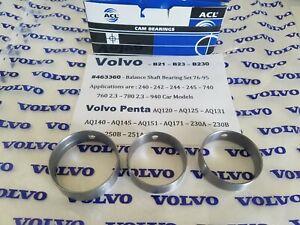 Volvo B21,B23,B230 Balance Shaft Bearing Set Penta AQ120 125 131 140 145 151 171