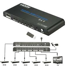 Intelligent 5x1 Hdmi Switch IR Remote Control Port Switcher UHD 4K 3D 1080p 4A8V