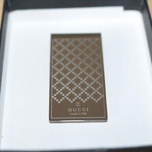 Gucci Money Diamante Clip Silver Mint Condition
