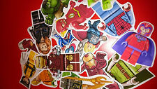 10 MINI LEGO SUPERHEROES VINYL MAGNETS PARTY BAG FILLERS