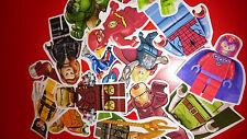 10 MINI LEGO SUPERHEROES VINYL MAGNETS PARTY BAG FILLERS