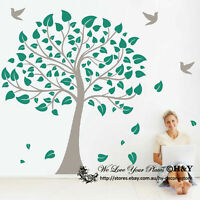 Birds Tree Removable Wall Art Stickers  Baby Kids Nursery Vinyl Decals Decor DIY