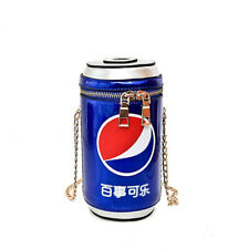 Lady Coke Crossbody Chain Zipper Cans Shoulder Bag Creative Girl Bucket Pouch