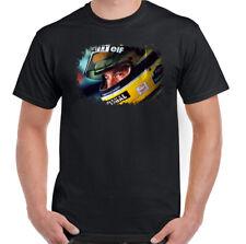 AYRTON SENNA T-SHIRT F1 Mens Driver Brazil Brazilian Car Motorsport Unisex Tee