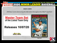 TORONTO BLUE JAYS 2020 Topps Heritage Minor MASTER TEAM SET w/SP-Inserts PEARSON