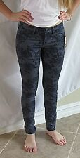 JUICY COUTURE Women's Jeans Small Floral Skinny Cotton Stretch Pants NWT Black
