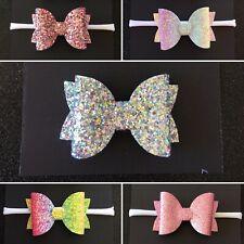 Baby Toddler Newborn Glitter Headbands or Piggy Tail clips