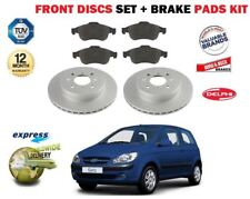 FOR HYUNDAI GETZ 1.5DT CRDi 1.6i 2002-> FRONT BRAKE DISCS SET + DISC PADS SET