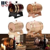 Oak Barrels Wooden Barrel Wine Barrels for Storage Aging Wine Whiskey Spirits US
