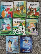 Lot of 8 Vintage Walt Disney Hardcover Books Dalmations Sleeping Beauty 1980s