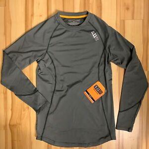 NEW 5.11 Tactical Mens Sub Z Crew Long Sleeve Shirt Dark Gray STORM Sz SMALL