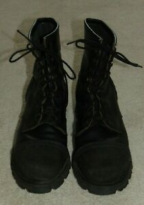 MEN'S  RED WING  STEEL TOE  SAFETY  BLACK  LEATHER BOOTS  13B  MADE IN USA