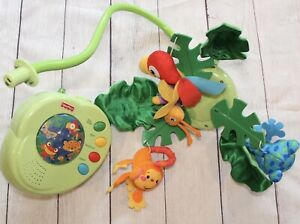 Fisher Price Rainforest Peek-A-Boo Leaves Musical Crib Mobile Working