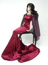 Burgundy Elvira Gown by KK Fits Fashion Royalty FR16 inch,Tyler Sybarite