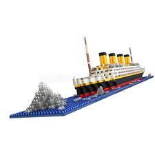 1860pcs Grand Titanic Ship Model Building Blocks Playset Kit Kids Puzzle Toy