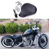 Black Motorcycle Bobber Solo Seat Spring For Yamaha V Star 1300 1100 950 650 250